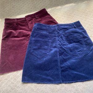 Forever 21 corduroy mini skirts